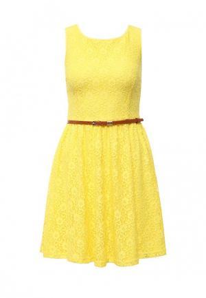 Платье Yumi. Цвет: желтый