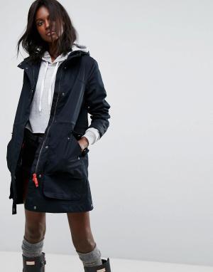 Hunter Прорезиненное непромокаемое пальто Original. Цвет: черный