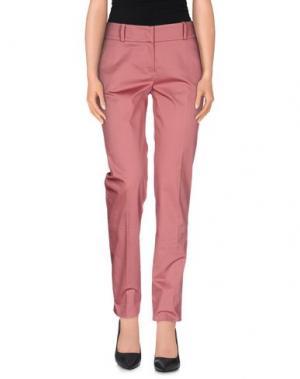 Повседневные брюки PESERICO SIGN. Цвет: кирпично-красный