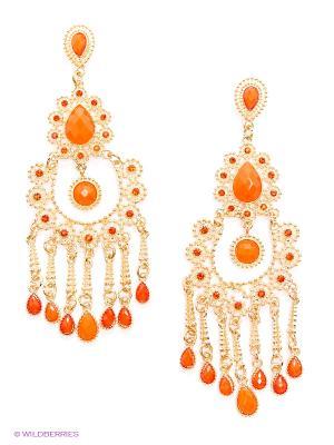 Серьги AVGAD. Цвет: золотистый, оранжевый