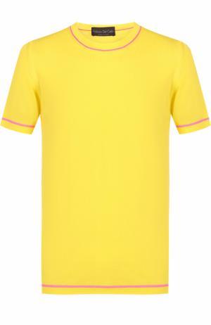 Хлопковый джемпер тонкой вязки Fabrizio Del Carlo. Цвет: желтый