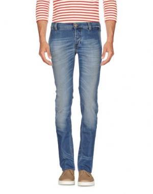 Джинсовые брюки FRADI. Цвет: синий