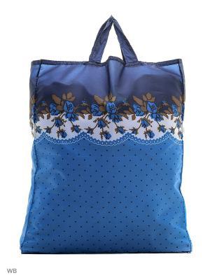 Сумка хозяйственная болоньевая Римейн. Цвет: синий, голубой, оранжевый