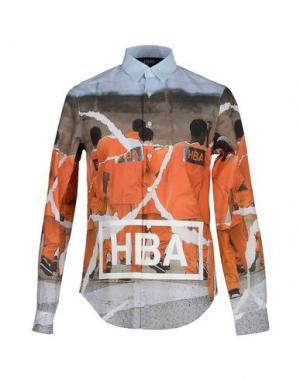 Pубашка HBA HOOD BY AIR. Цвет: оранжевый