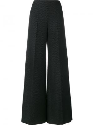 Расклешенные брюки с узором-елочкой Emilia Wickstead. Цвет: чёрный
