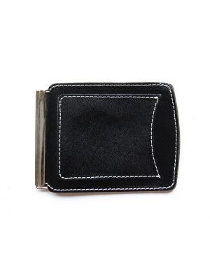 Денежный зажим с карманом Вектор. Цвет: черный