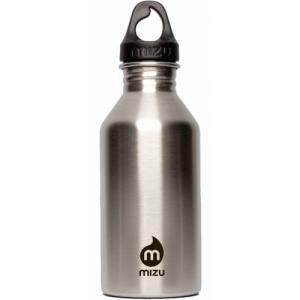 Бутылка Для Воды MIZU. Цвет: stainless w black print & loop cap