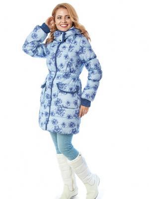 Куртка Глиона Mum`s Era. Цвет: синий, голубой