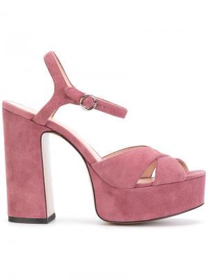 Platform sandals Marc Jacobs. Цвет: розовый и фиолетовый
