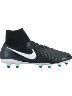 Бутсы MAGISTA ONDA II DF FG Nike. Цвет: черный, белый