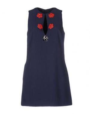 Короткое платье TENAX. Цвет: темно-синий