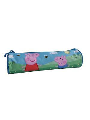 Пенал-тубус Свинка Пеппа Peppa Pig. Цвет: бирюзовый, розовый, зеленый