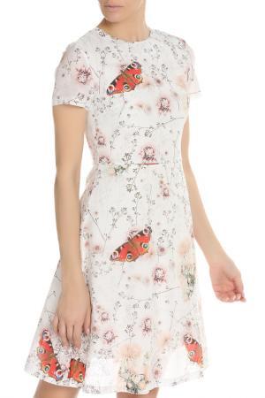Летнее платье с поясом NATALIA PICARIELLO. Цвет: белый