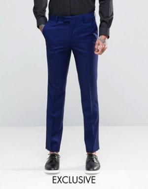 Farah Синие брюки зауженного кроя. Цвет: зеленый