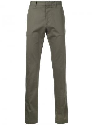 Классические брюки-чинос Kent & Curwen. Цвет: зелёный