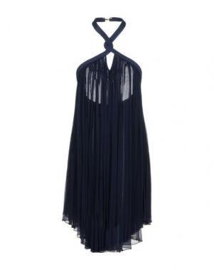 Платье до колена JAY AHR. Цвет: темно-синий