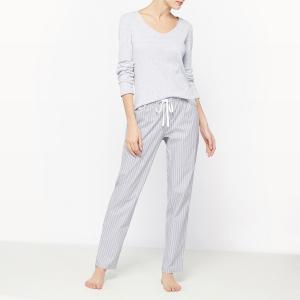 Пижама La Redoute Collections. Цвет: серый в полоску