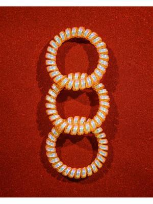 Резинка пружинка 3 шт. Bizon. Цвет: оранжевый