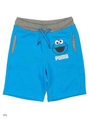 Шорты Sesame Street Sweat Bermuda Puma. Цвет: лазурный