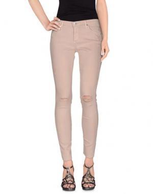 Джинсовые брюки AG ADRIANO GOLDSCHMIED. Цвет: телесный