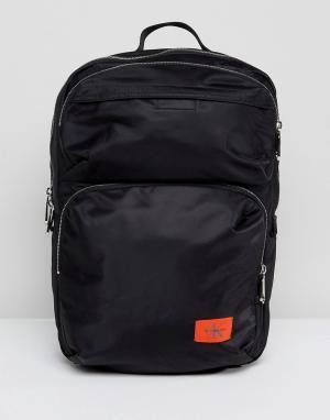 Calvin Klein Рюкзак со множеством карманов. Цвет: черный