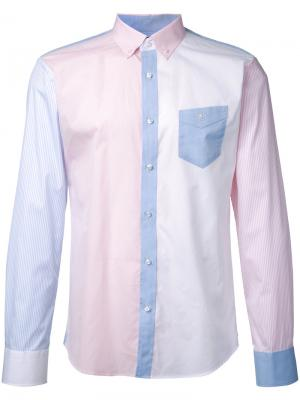 Рубашка с контрастными панелями Loveless. Цвет: многоцветный