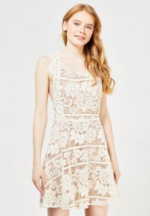 Платье Danity. Цвет: бежевый