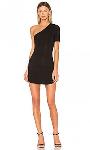Платье с одним плечом lyle Riller & Fount. Цвет: черный