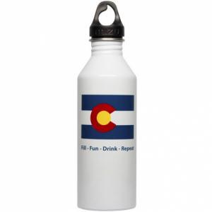 Бутылка Для Воды MIZU. Цвет: colorado flag glossy white