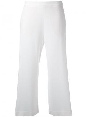 Укороченные широкие брюки Fabiana Filippi. Цвет: белый