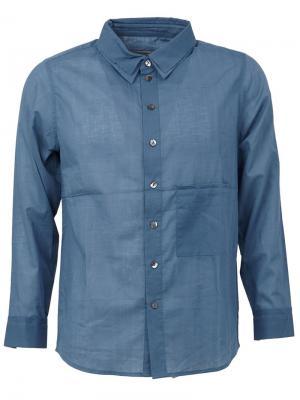 Рубашка с нагрудным карманом By Walid. Цвет: синий