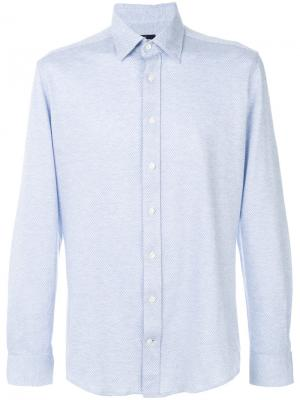 Приталенная рубашка Hackett. Цвет: синий