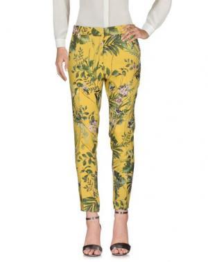 Повседневные брюки MESSAGERIE. Цвет: желтый