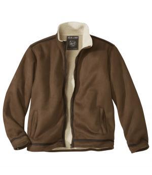 Замшевая Куртка с Подкладкой из Шерпы AFM. Цвет: коричневыи