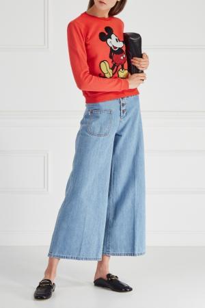 Хлопковый свитшот Marc Jacobs. Цвет: красный
