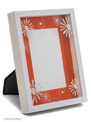 Фоторамка VELD-CO. Цвет: оранжевый, белый