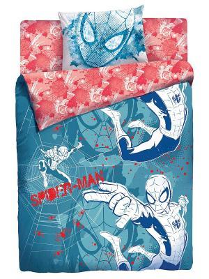 Комплект постельного белья Новый Человек Паук Marvel. Цвет: синий