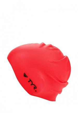 Шапочка для плавания TYR. Цвет: красный