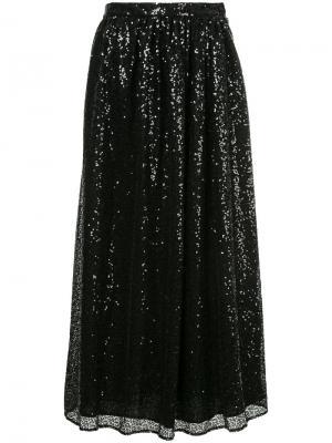 Пышная юбка с пайетками Ingie Paris. Цвет: чёрный