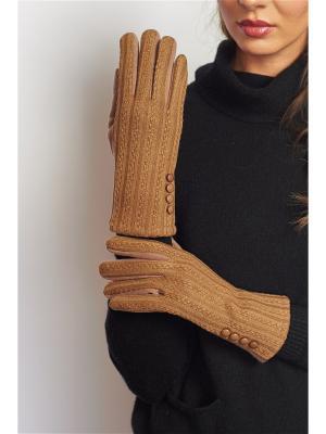 Перчатки Abby. Цвет: светло-коричневый