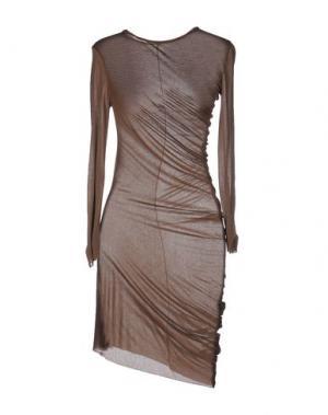 Короткое платье NOSTRASANTISSIMA. Цвет: коричневый