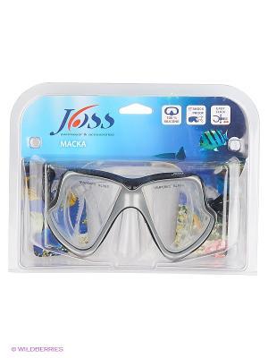 Маска для плавания JOSS. Цвет: черный