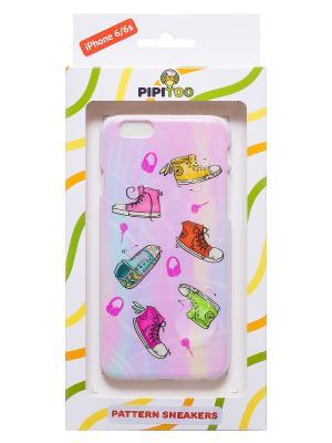 Чехол-накладка Sneakers для iPhone 6/6s Pipitoo. Цвет: розовый