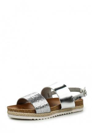 Сандалии Max Shoes. Цвет: серебряный
