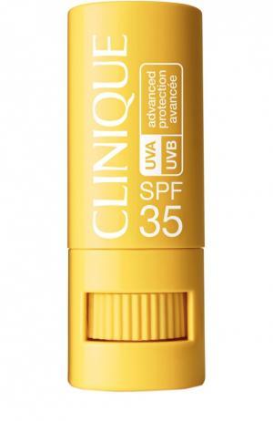 Солнцезащитный крем-стик c SPF35 для чувствительной кожи вокруг глаз, губ и любых других участков лица тела Clinique. Цвет: бесцветный