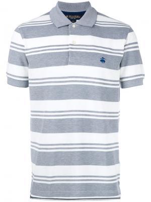 Рубашка-поло в полоску Brooks Brothers. Цвет: серый