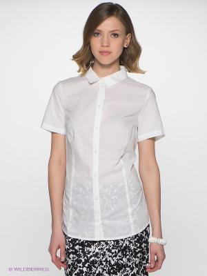 Блузка Finn Flare. Цвет: белый