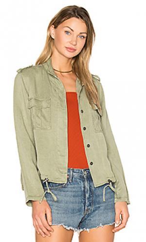 Куртка maverick Rails. Цвет: серовато-зеленый
