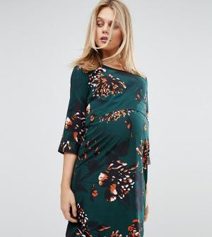 Mama.licious Платье для беременных и кормящих с цветочным принтом Mamalicious. Цвет: мульти