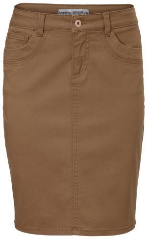 Джинсовая юбка Otto. Цвет: коричневый